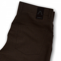 ALBERTO | Modern Fit Ceramica Stone Dress Pant - Brown