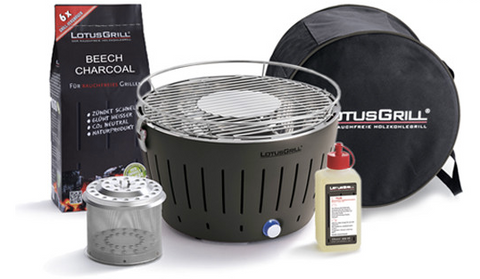 LotusGrill Tailgater GT (XL) Starter Pack - Grill Time Inc. LotusGrill live2grill