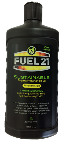 Fuel 21 Fire Starter Gel 16oz Bottle - Grill Time Inc. LotusGrill live2grill
