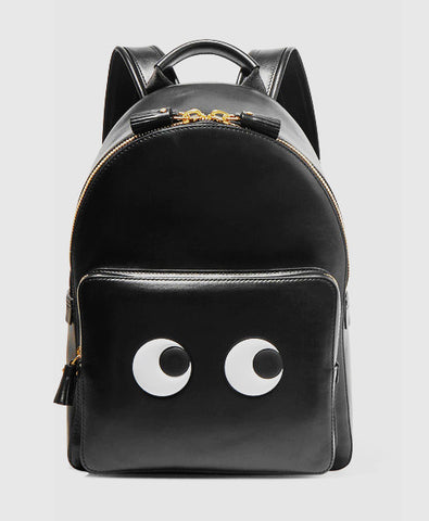 Eyes mini leather backpack