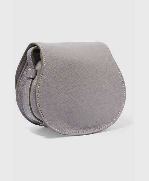 Marcie mini textured leather shoulder bag