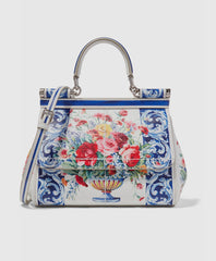 Sicily small printed textured leather tote