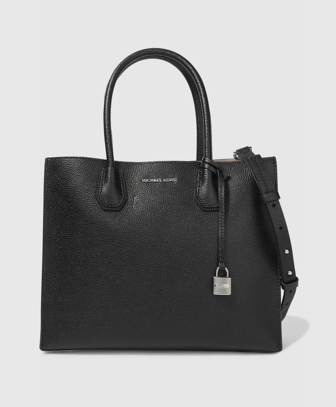 Mercer large textured leather tote