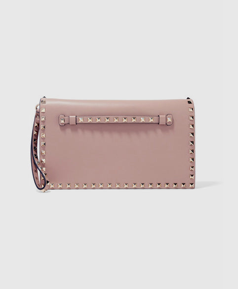 The Rockstud leather clutch
