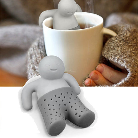 3 pcs/lot Tea tool Interesting Life partner cute Mr Teapot Tea Infuser/Tea Strainer/Coffee & Tea Sets/silicone