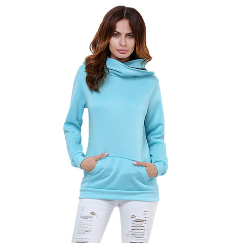 Sweatshirt Hoodies Pullovers Turn-down Collar Jacket Outerwear S-XXL