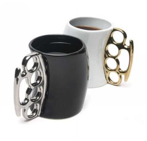 Brass Handled Mug Ceramic Coffee Mug, Porcelain Cup 4 Colors 1pc It shows your style