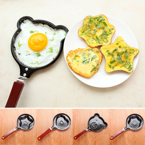 Creative Cartoon Animals Mini Non-Stick Breakfast Omelette Pan Pancake Egg Fryer Skillet Fry Frying Pan Molds (no lids) Cookware