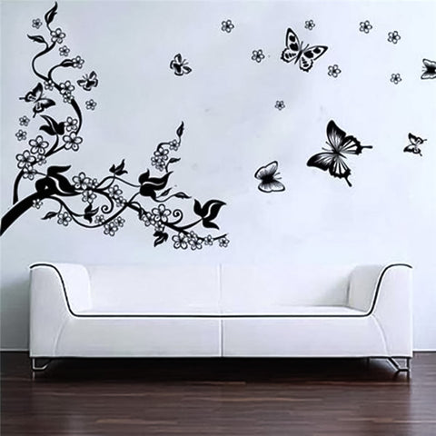 Romantic Tree and Butterflies Removable Wall Sticker art decals