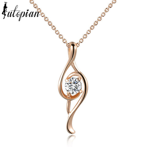 Lovely Music Note Pendant and chain with Top Quality Cubic Zirconia - You Hear Music Wherever she goes.