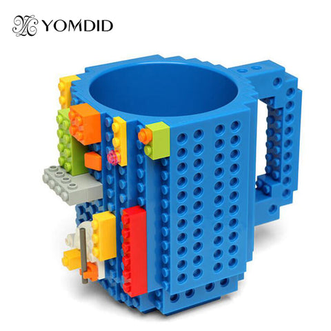 """Lego"" Style DIY Bulding Blocks Coffee Mugs 350 ml Creative Drinkware BPA Free Asst. Colors"