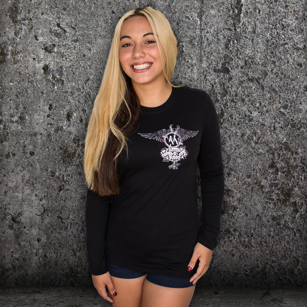 Ladies Skull Alternative Long Sleeve Tee