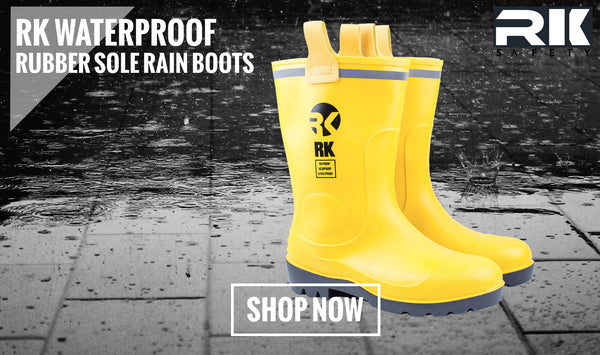 RK Waterproof Rubber Sole Rain Boots