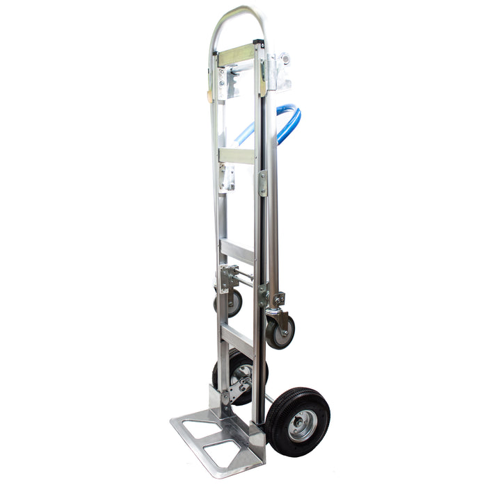 NK HTA-7B Heavy Duty 2 in 1 Senior Convertible Aluminum Hand Truck, Fully Assembled without Wheels, Flat Free Wheels-NK-RK Safety
