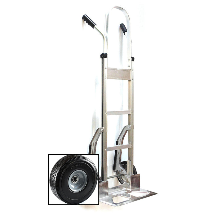NK HTA-14 (w/ PT-006) Heavy Duty PT-006 Aluminum Hand Truck, Stair Climbr, Fully Assembled without Wheels, Flat Free Wheels - RK Safety