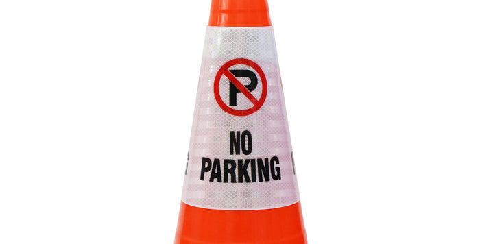 "RK Safety ""No Parking"" Bright Reflective Cone Message Sleeve, [Cone Not Included]…-RK Safety-RK Safety"