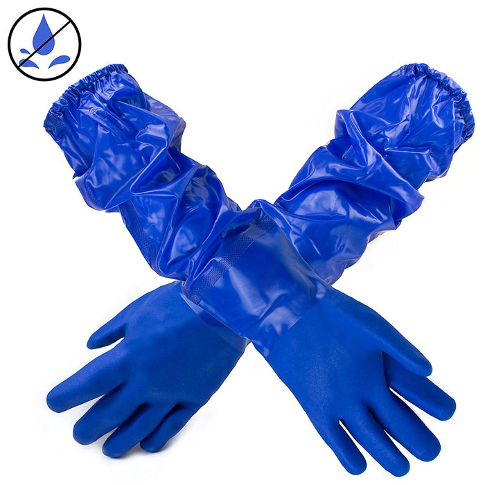 Better Grip Premium Double Coated 23 inch PVC Chemical Resistant Gloves-BG26PVC-BLU - RK Safety