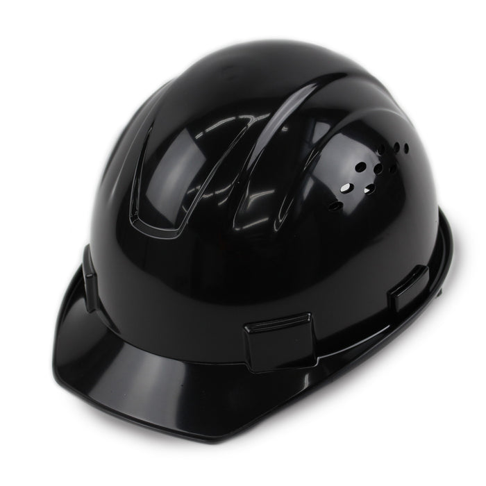 RK Safety RK-HP14-BK Hard Hat Cap Style with 4 Point Ratchet Suspension (Black) - RK Safety