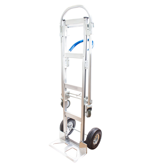 NK HTA-7B Heavy Duty 2 in 1 Senior Convertible Aluminum Hand Truck, Fully Assembled without Wheels, Flat Free Wheels - RK Safety
