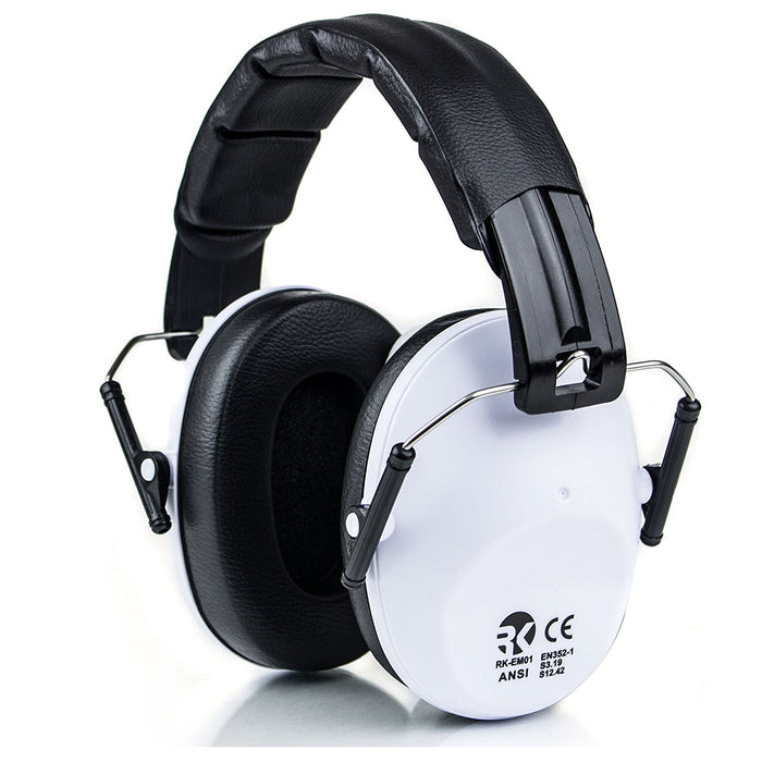 RK Shooting Hearing Protection Folding-Padded Ear Muff - White-RK Safety-RK Safety