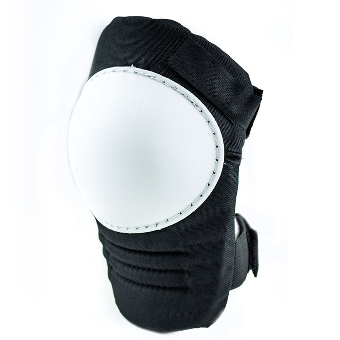 RK Safety Kneepad with White Hard Shell, Stitched Poly Cap - RK Safety