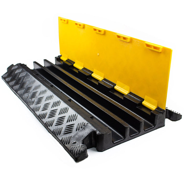 RK RK-CP-3CST, 3Channel Modular Rubber Cable Protector Ramp-Straight - RK Safety