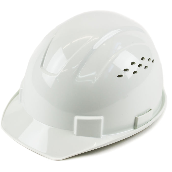 RK Safety RK-HP14-WH Hard Hat Cap Style with 4 Point Ratchet Suspension (White) - RK Safety