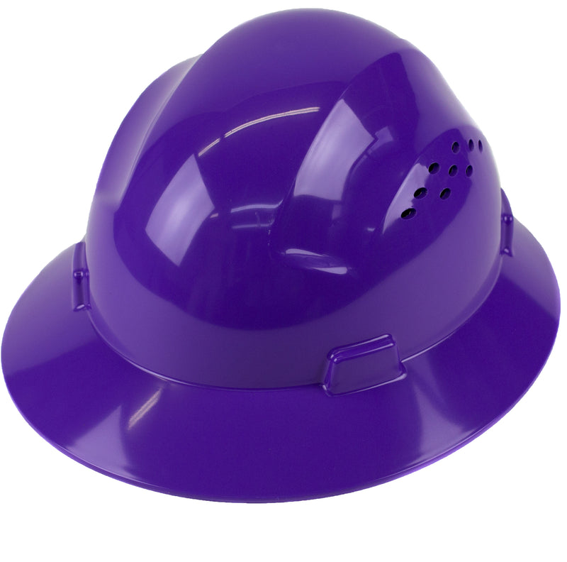 RK Safety RK-HP24-BL Blue Hard Hat Brim Style with 4 Point Ratchet Suspension-RK Safety-RK Safety