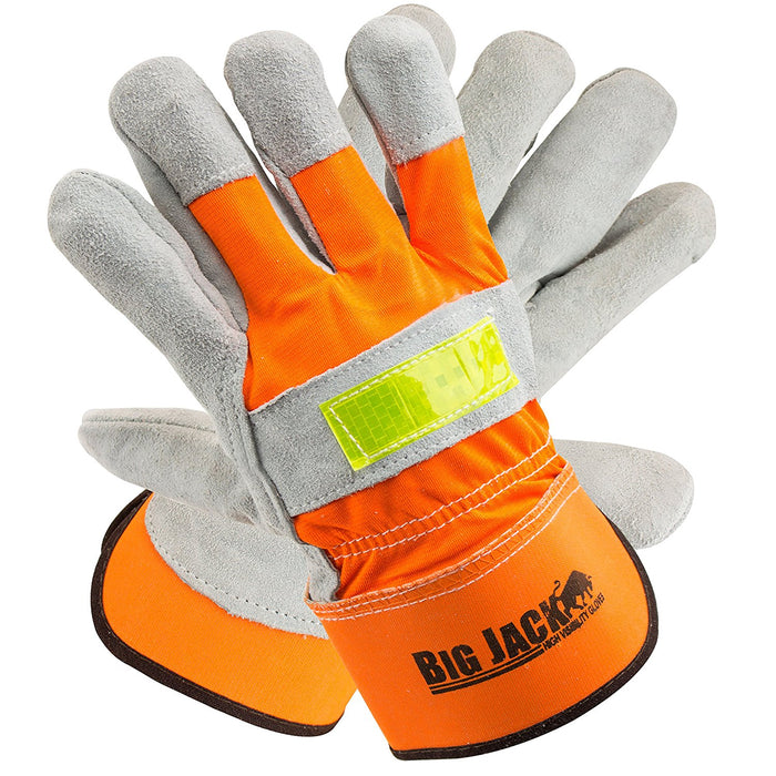 Better Grip® Hi Visibility Cowhide Leather Palm Gloves - BGBYHVO-Better Grip-RK Safety