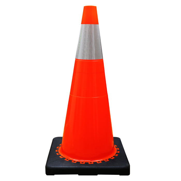 "(Set of 8) 28"" Orange Traffic Cones, One Reflective Collar-RK Safety-RK Safety"