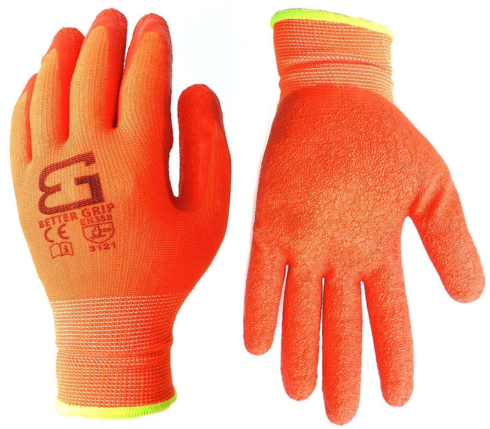 Better Grip® Nylon Gloves Textured Latex Coating Gripping - BGSCLOR - RK Safety
