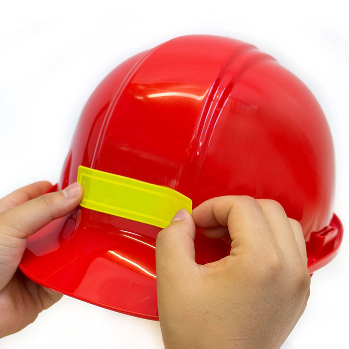 Adhesive Vinyl Reflective Hard Hat/Helmet Sticker - Red - RK Safety