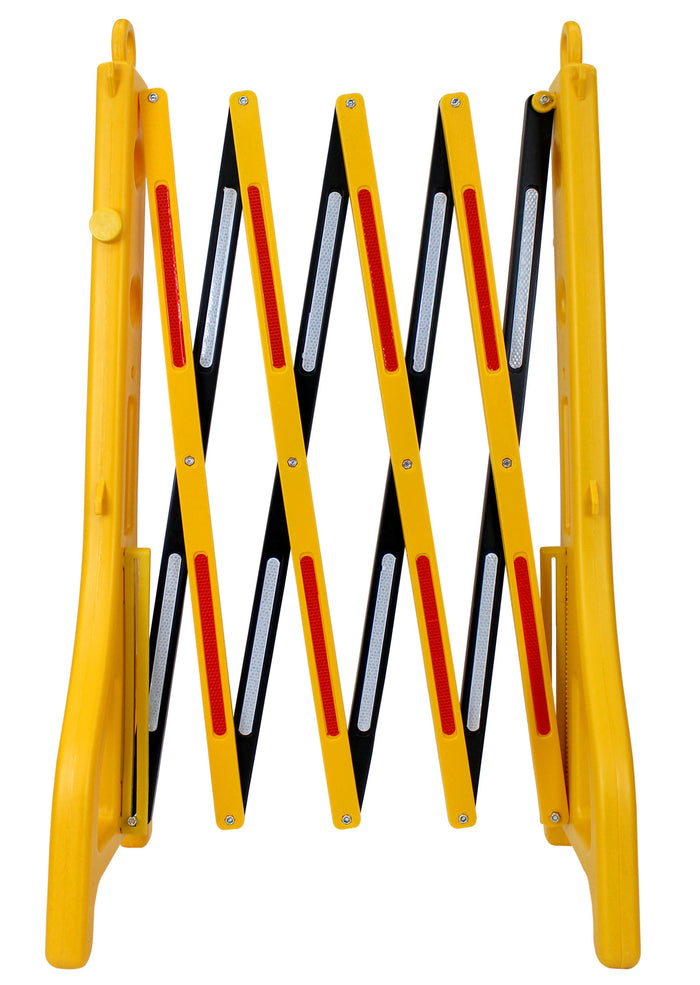 "RK Safety RK-EXB1 Expandable Barricade System,Safety Barrier Gate,38"" Tall - 8' 2"" Max Width-RK Safety-RK Safety"