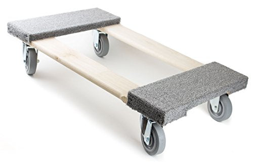 NK Furniture Movers Dolly, Soft Gray Non-marking TPR Wheels -Grey-NK-RK Safety