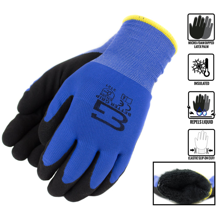 Better Grip® Double Lining Rubber Coated Gloves - BGWANS-BLU-CS - RK Safety