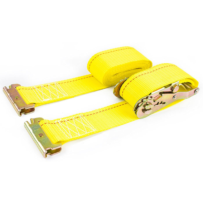 "NK-RCE2X12 2"" x 12ft Durable Yellow Ratchet Strap - RK Safety"