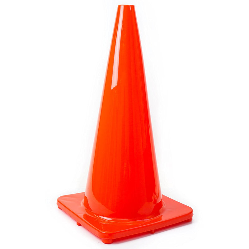"(Set of 8) 28"" RK Orange Safety Traffic PVC Cones, Orange Base-RK Safety-RK Safety"