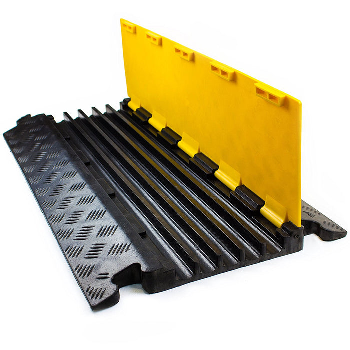 RK RK-CP-5CST, 5Channel Modular Rubber Cable Protector Ramp-straight-RK Safety-RK Safety
