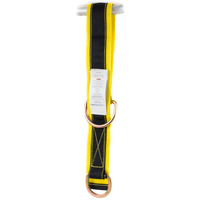 Spidergard SPA101 3-Foot Cross-Arm Straps with Large, Small D-Rings, Yellow - RK Safety