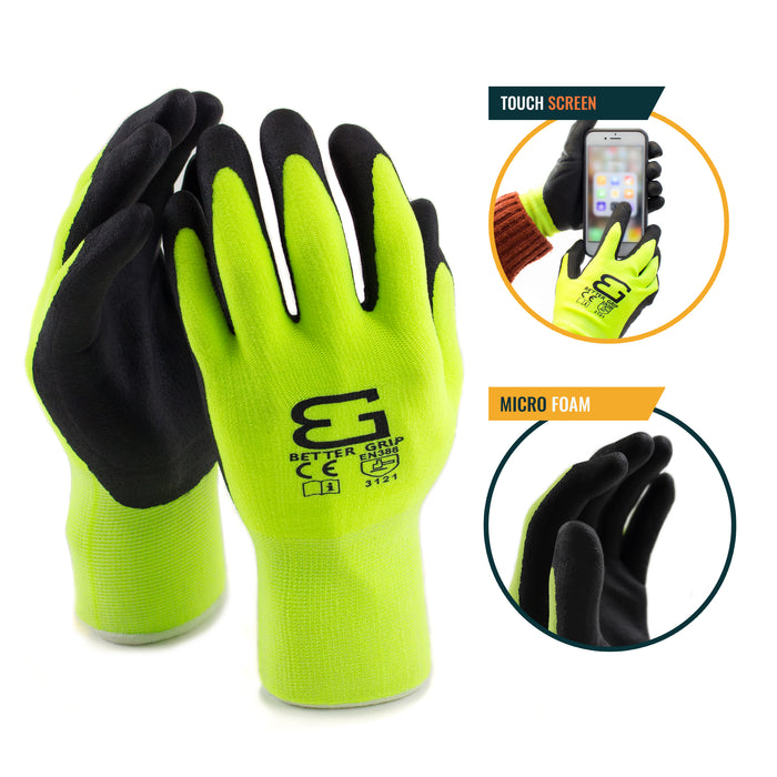Micro Foam Nitrile Coated Nylon Work Glove - BGFLEXMF-LM - RK Safety