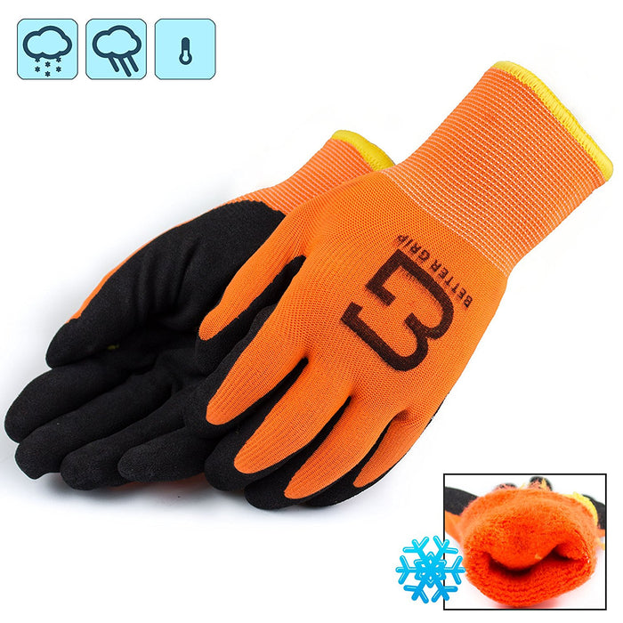 Better Grip® Double Lining Rubber Coated Gloves - BGWANS-OR - RK Safety