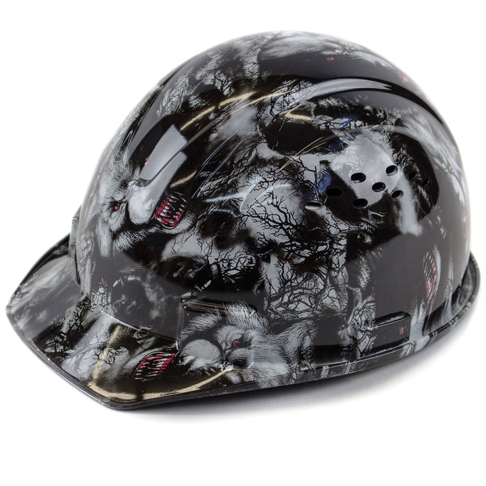 RK Safety RK-HP34-WOLVES Wolves Designed Hard Hat Cap Style with 4 Point Ratchet Suspension - RK Safety