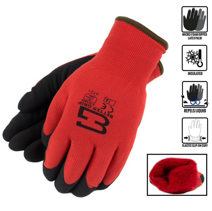Better Grip® Double Lining Rubber Coated Gloves - BGWANS-RD-CS-Better Grip-RK Safety