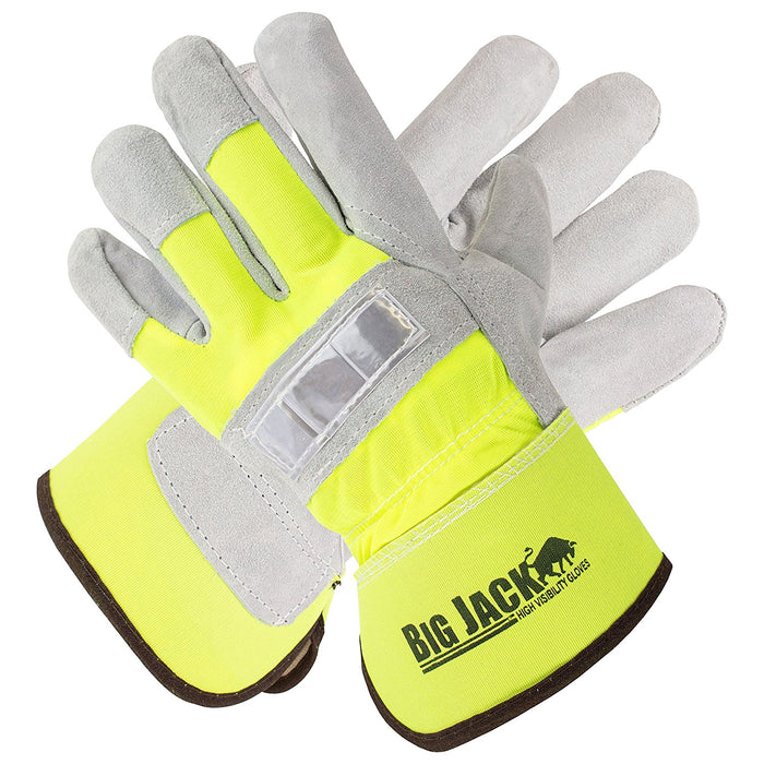 Better Grip® Hi Visibility Cowhide Leather Palm Gloves - BGBYHVG - RK Safety