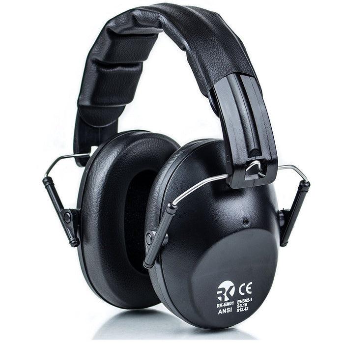 RK Shooting Hearing Protection Folding-Padded Ear Muff - Black-RK Safety-RK Safety