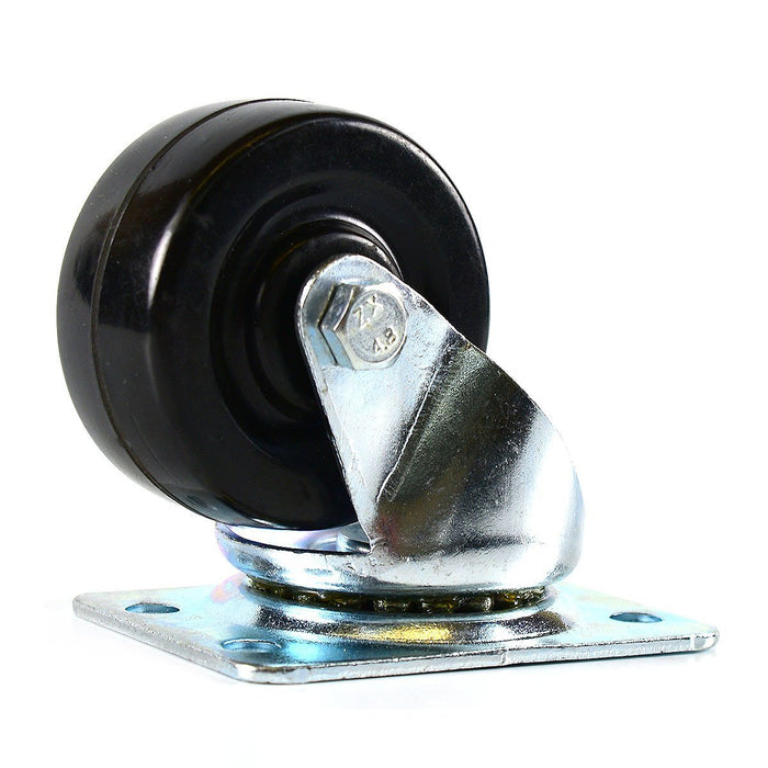 NK 2 Inch Low Profile Hard Rubber Wheel Swivel Plate Casters - CHR2SSRE-4-NK-RK Safety
