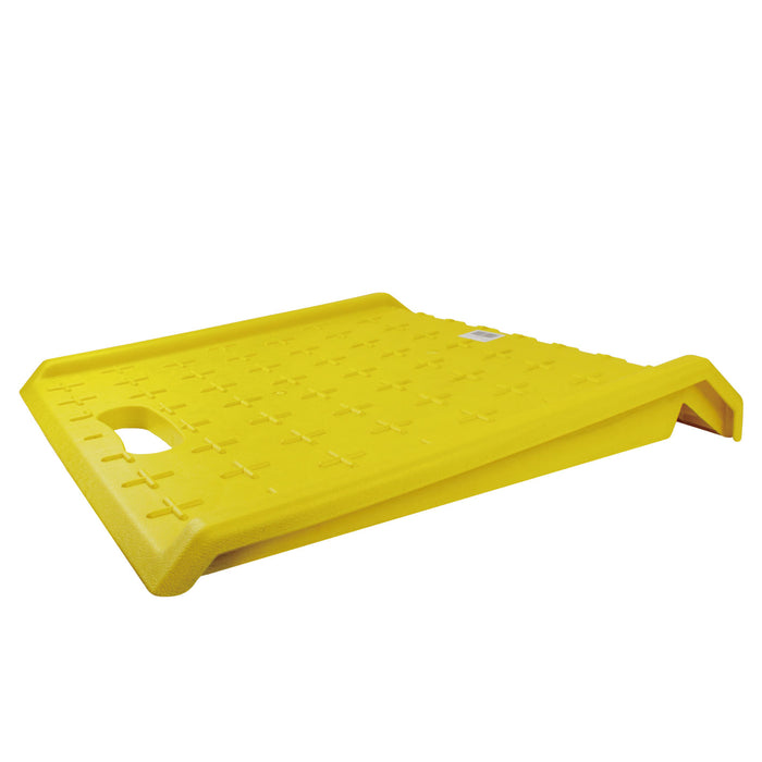 RK-PCR27- Heavy Duty 1000 lbs Portable Curb Ramp for Hand Truck Delivery, Carts (Yellow) - RK Safety