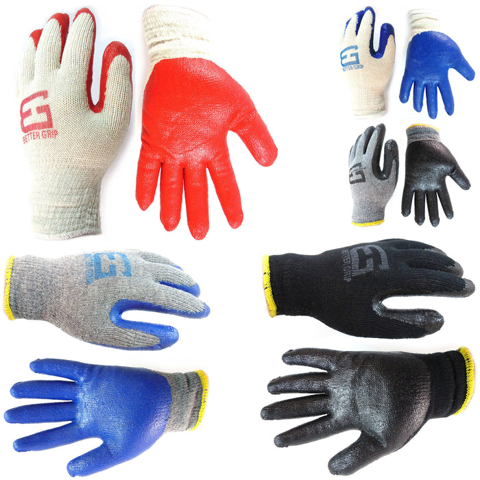 Better Grip® String Knit Double Dipped Latex Palm Coated Gloves - RK Safety