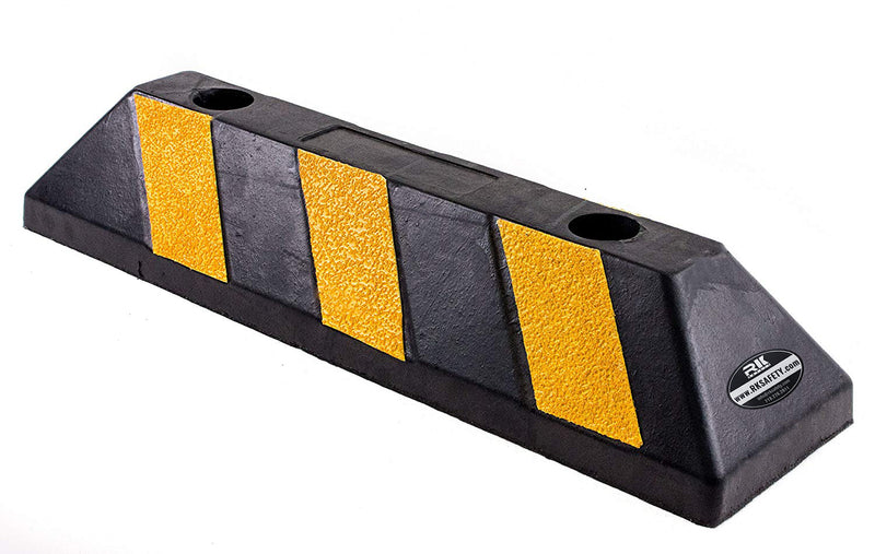 RKBP Heavy Duty Rubber Parking Curb, Parking Block for Car and trailer stop aid-22, 36, 72 Inch, 237KIT-Parking Block-RK Safety