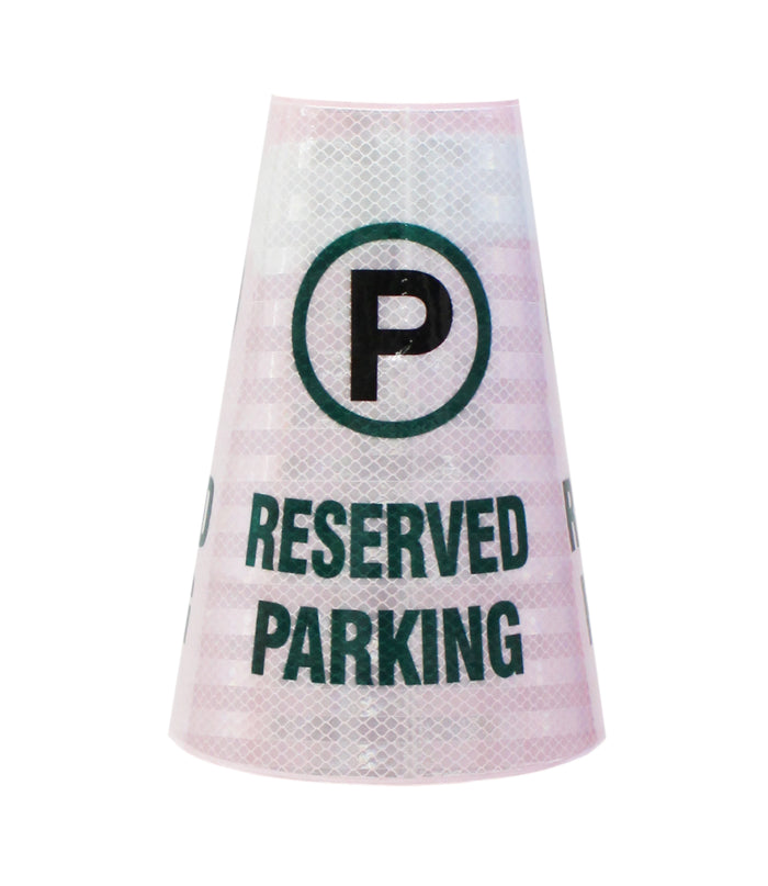 "RK Safety ""Reserved Parking"" Bright Reflective Cone Message Sleeve, [Cone Not Included]…-RK Safety-RK Safety"